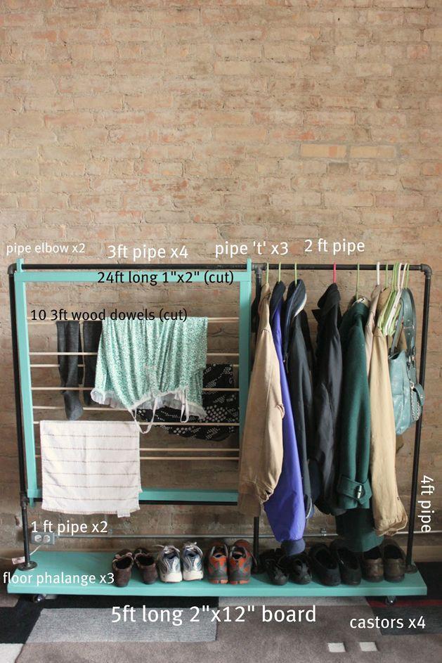 DIY coat rack Craftzine blog