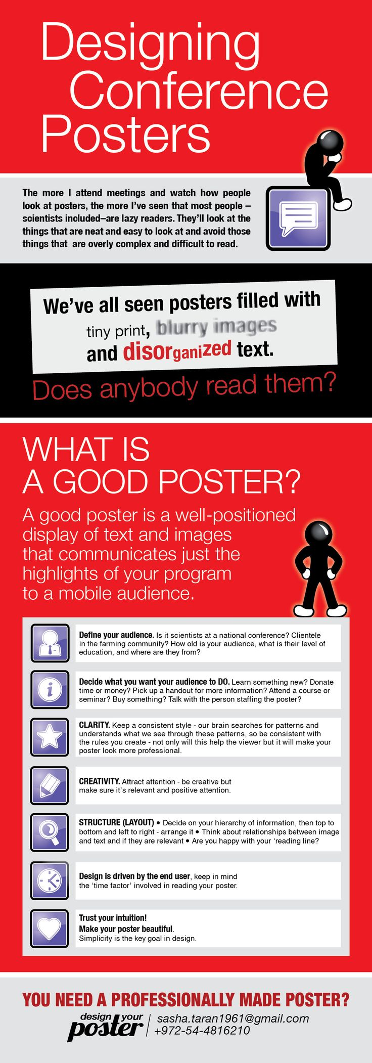 How to design a poster template