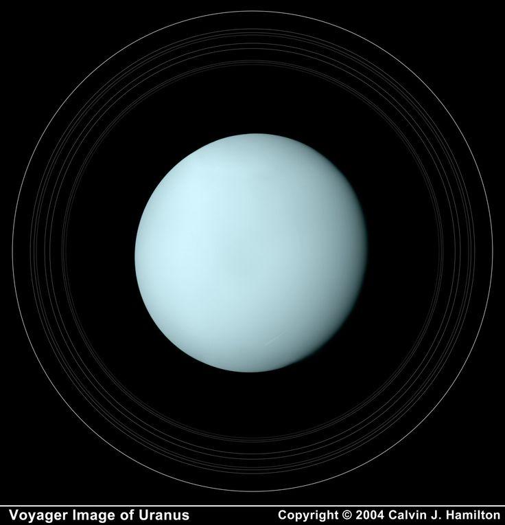 Uranus with its Rings | Uranus | Pinterest