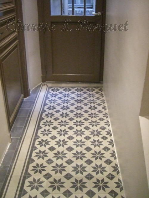 Carreaux de ciment charme parquet carreaux de ciment pinterest - Carreaux de ciment parquet ...