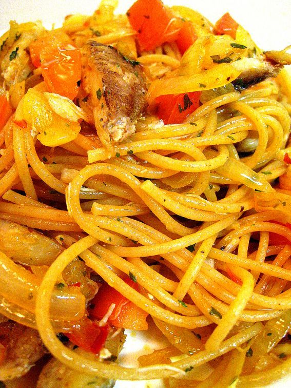 Spicy Crab Spaghettini | Pasta party | Pinterest