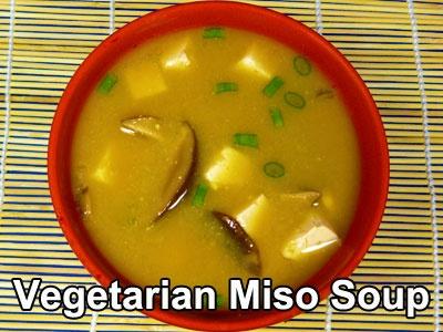 ... miso soup recipe with tofu, shiitake mushrooms, and scallions