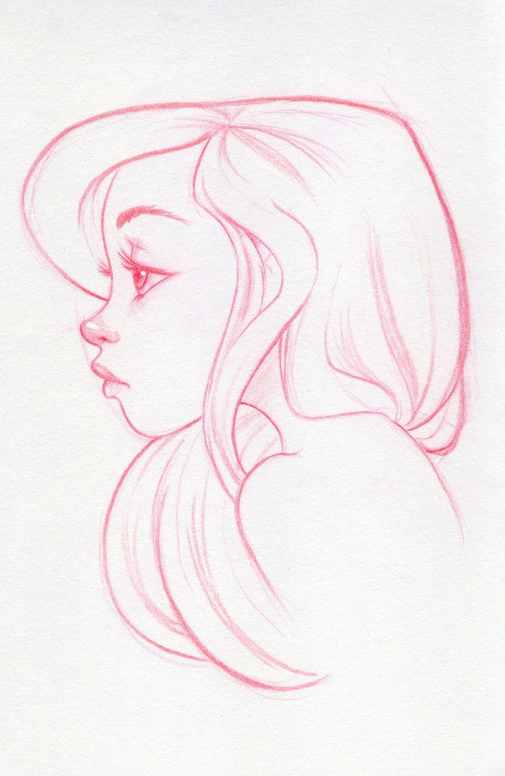 Character Design Side View : Gorgeous ariel profile outlines pinterest