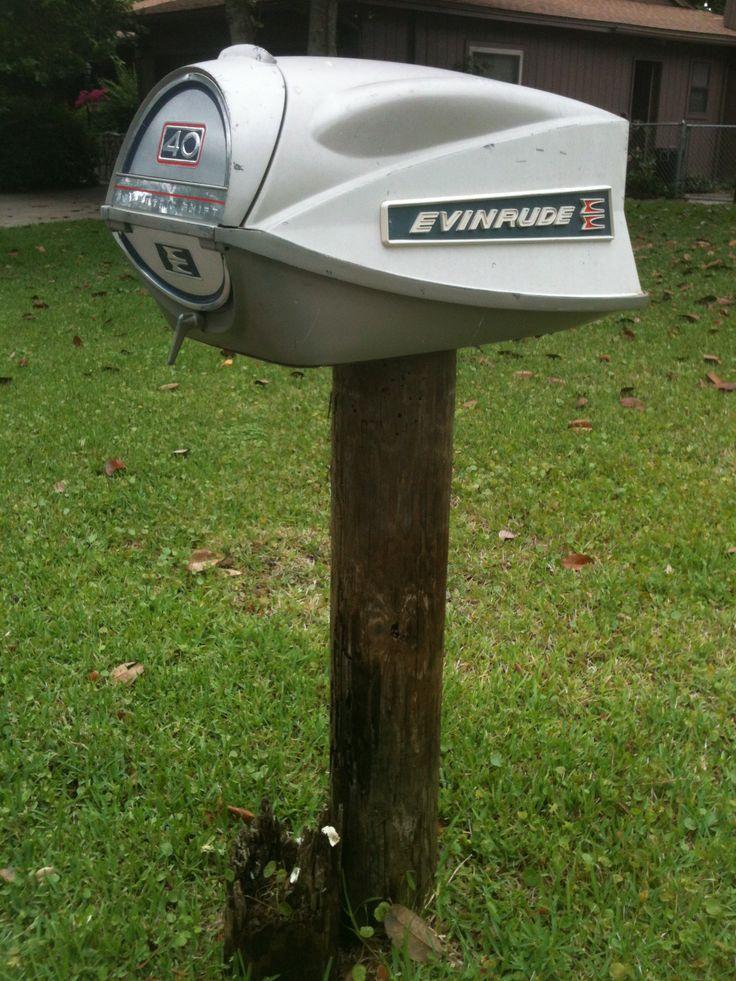 Boat motor mailbox postal delights pinterest for Boat mailbox