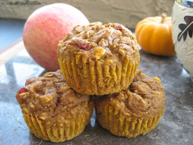 The Rising Spoon Blog: Super Moist Pumpkin-Apple Harvest Muffins. They ...
