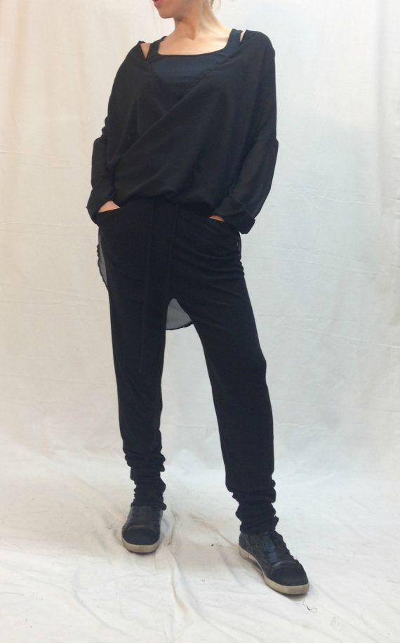 womens black warm pants