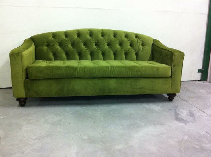 Tufted green sofa for the home pinterest for Couch 0 interest