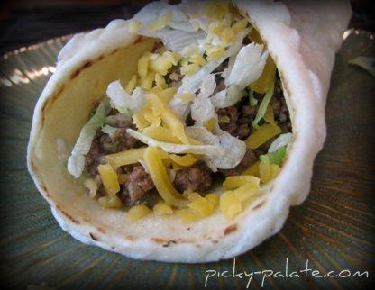 Crock Pot Beef Tacos in Soft Tortilla Bread (I would just transfer ...