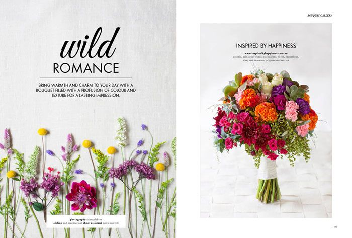 Modern Wedding Flowers Magazine On Sale Featuring Pages Of Wedding