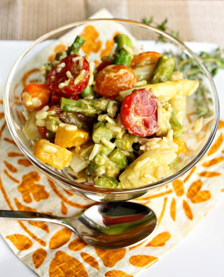 Rice, Asparagus & Avocado Salad | Food Wants | Pinterest