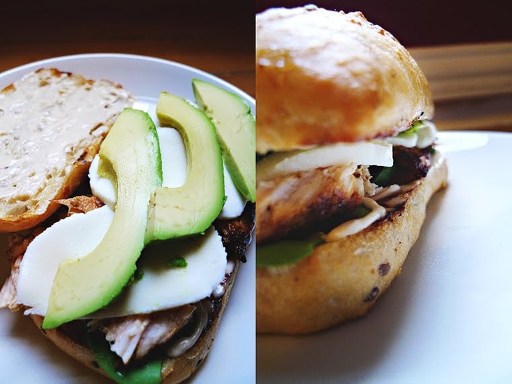 grilled chicken avocado sammies. | Post workout meal | Pinterest