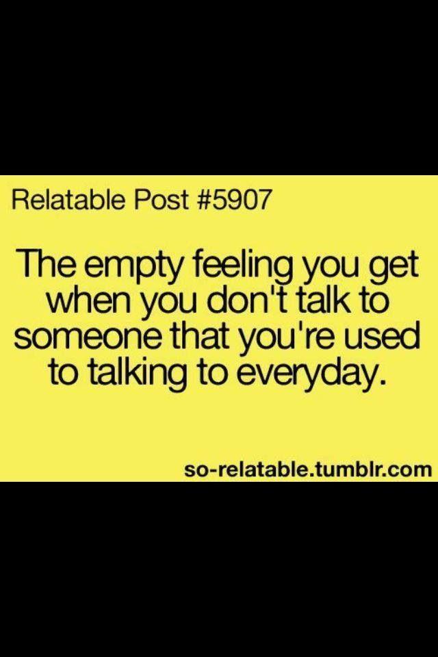 The empty feeling :(