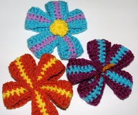 Crochet Hair Ribbon Pattern : Crochet Ribbon Flower pattern handmade flowers so pretty Pinterest