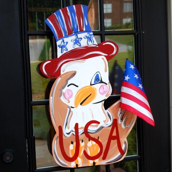 Door Hanger Patriotic Decor 4th of July Summer by LooLeighsCharm, $30.00