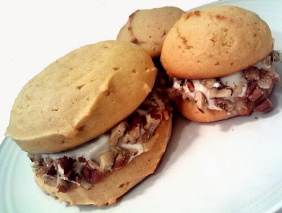 Maple Whoopie Pies with Coconut Cream, Walnuts & Pecans