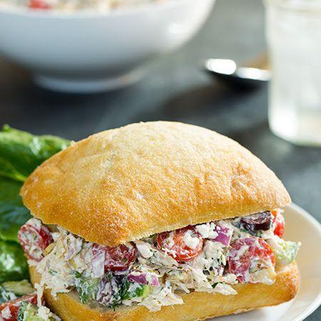 Greek Chicken Salad Sandwiches | Favorite Recipes | Pinterest