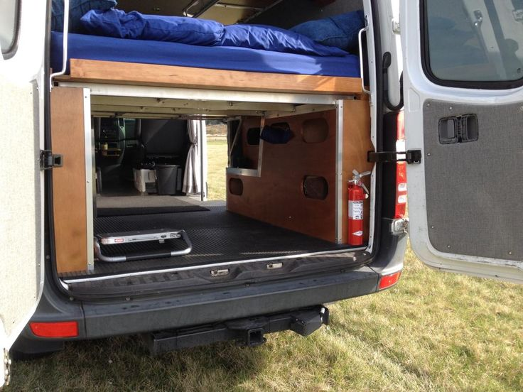 DIY folding Sprinter bed. | Camper Vans | Pinterest