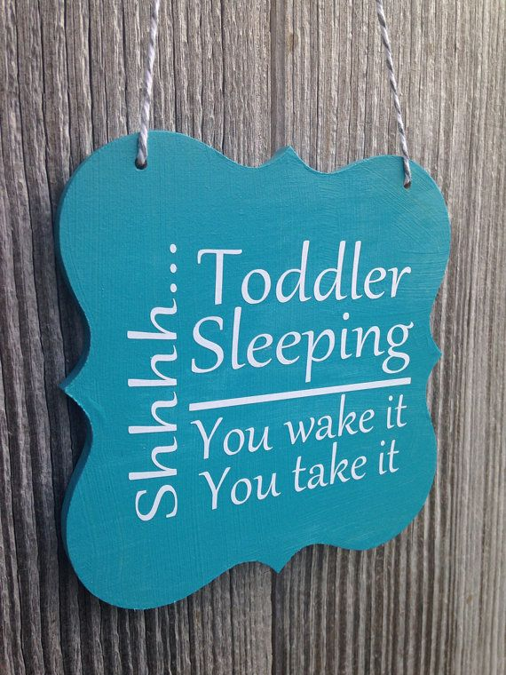 Shhhh Toddler Sleeping You Wake It (her/him/them) You Take It (her/him/them) - Front Door Sign on Etsy, $8.00