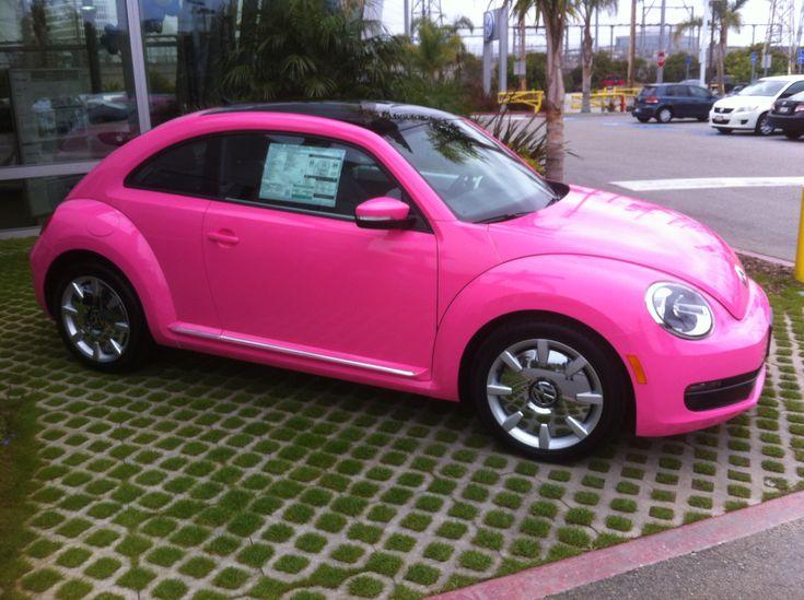 Pink beetle car