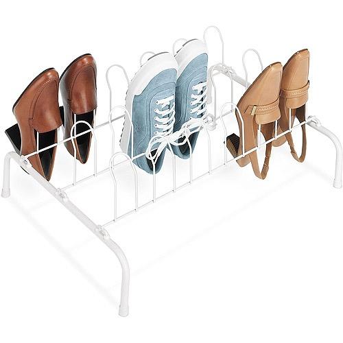 Whitmor 9-Pair Wire Shoe Rack, White Janine s house
