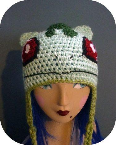 Free Crochet Pattern Pokemon Hat : Bulbasaur Pokemon Hat Beanie!!!! Crochet-aholic - Nerdy ...