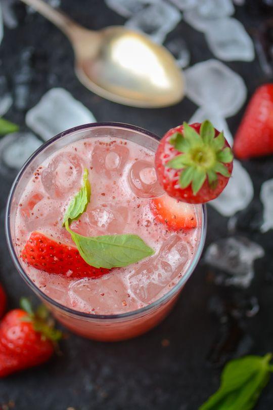 strawberry balsamic basil soda - www.scalingbackblog.com