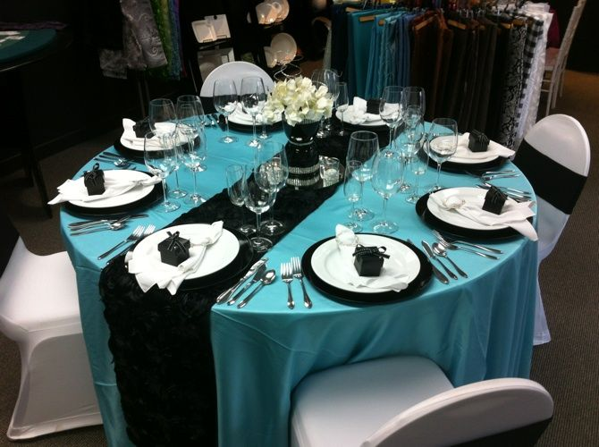 Black turquoise wedding