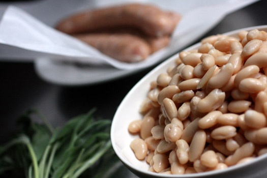 Chicken Sausage with White Beans and Sage