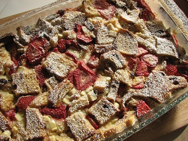 Strawberry-White Chocolate Bread Pudding | Dessert Recipes | Pinterest