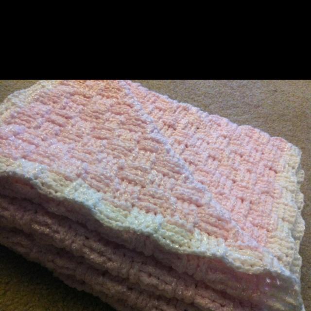 Basket Weave Baby Blanket crochet crocheted stuff ...