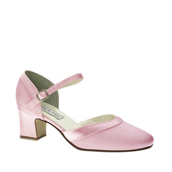 pink wedding shoes low heel 1 75 inch heel shoes