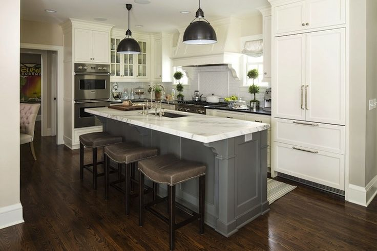 Best Gray Island White Cabinets Home Decor Ideas Pinterest 400 x 300