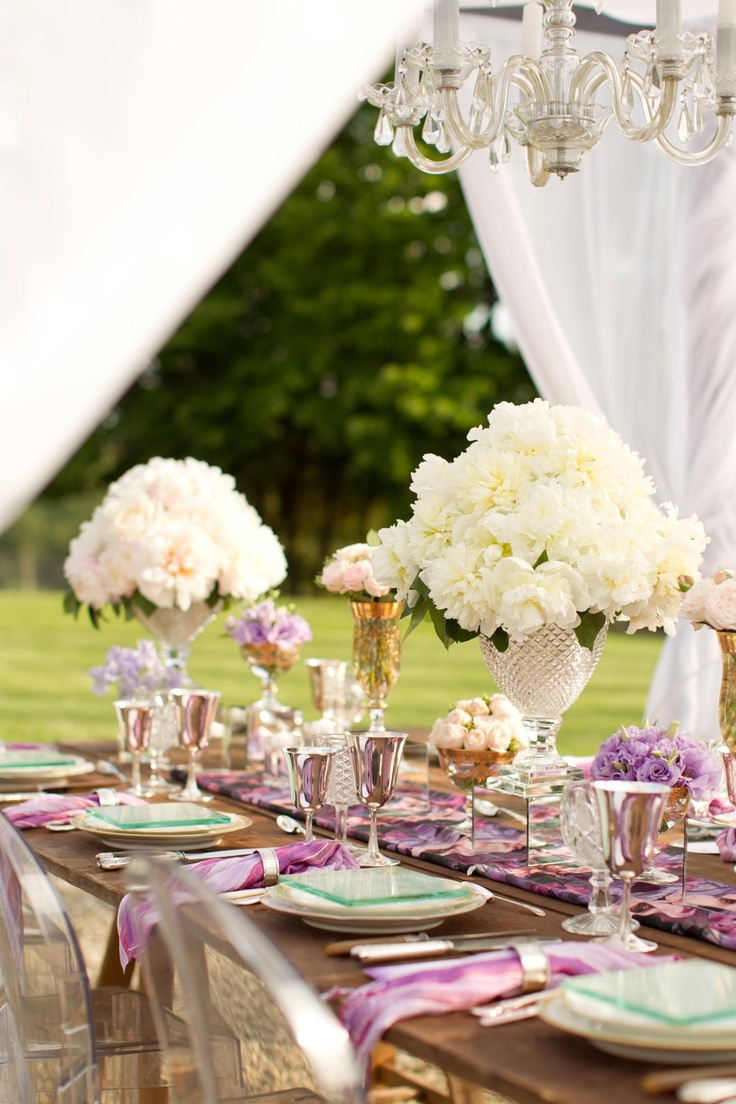 Elegant Outdoor Wedding Table Setting Table Set Up Ideas