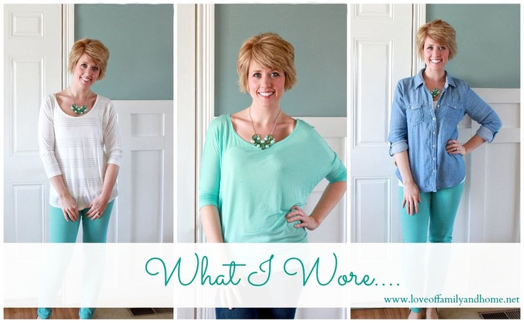 What I Wore: Aqua & Green Statement Necklace