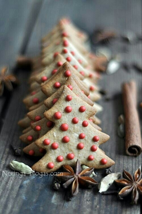 Easy to decorate christmas tree cookies christmas pinterest