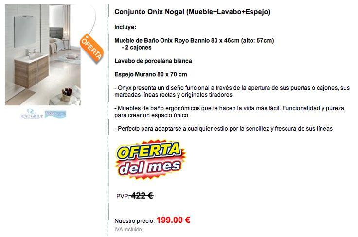 Muebles De Baño Royo: Todo Bagno on 199 € CONJUNTO DE BAÑO ONIX- ROYO mueble + lavab