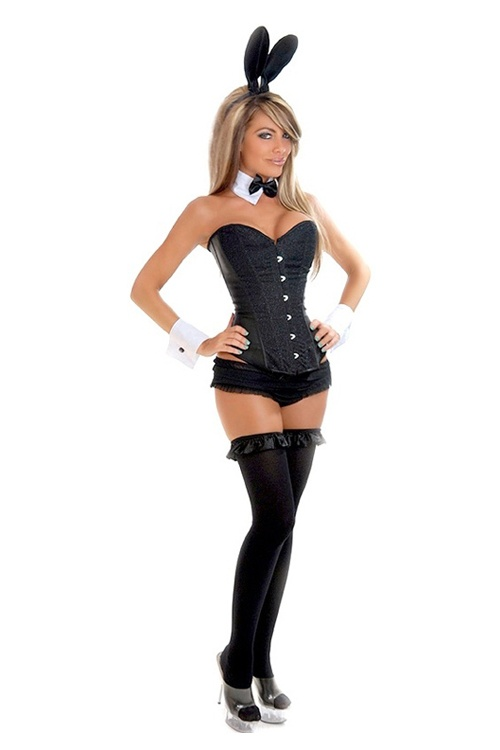 glitter tuxedo bunny costume bunny playboy bunny. Black Bedroom Furniture Sets. Home Design Ideas