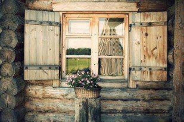 Log Cabin Windows Country Living Home Ideas Pinterest