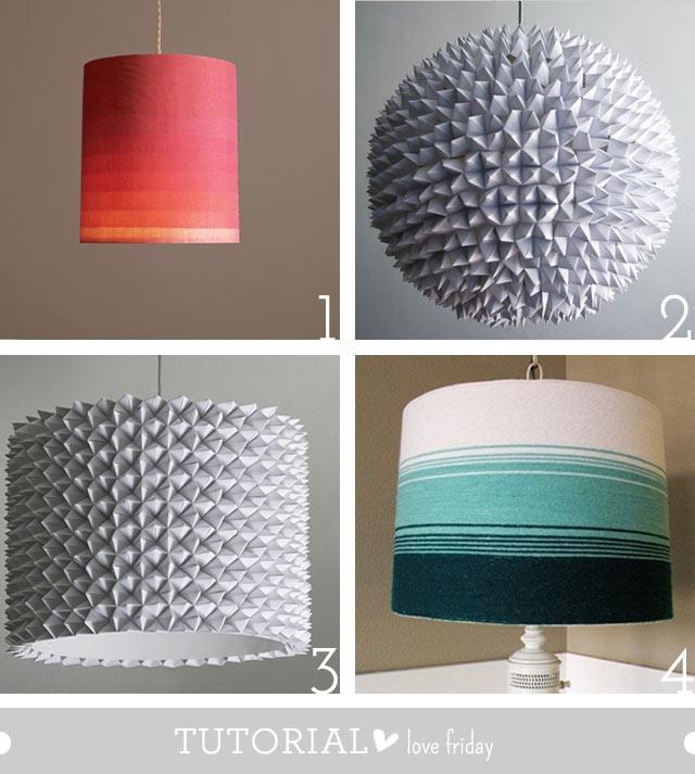 Lamp Shade Tutorials Diy Pinterest