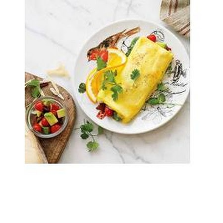 Bacon, Avocado and Cherry Tomato Omelettes