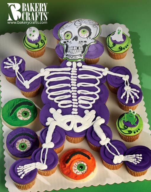 Halloween cupcake cake halloween pinterest for How to make halloween cupcake cakes