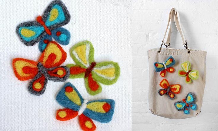 Super cute felted butterfly DIY