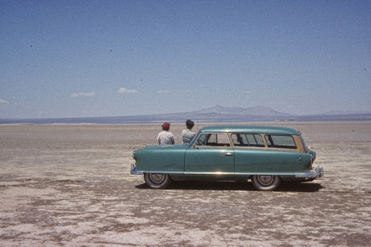 Vintage Photo: Getting Away From it all, Early 50s Nash Rambler Station Wagon. $29.99, via Etsy.