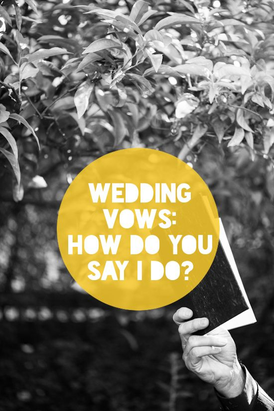 Sample wedding vows. Tons of suggestions in the comments! (Gabriel Harber Photography)