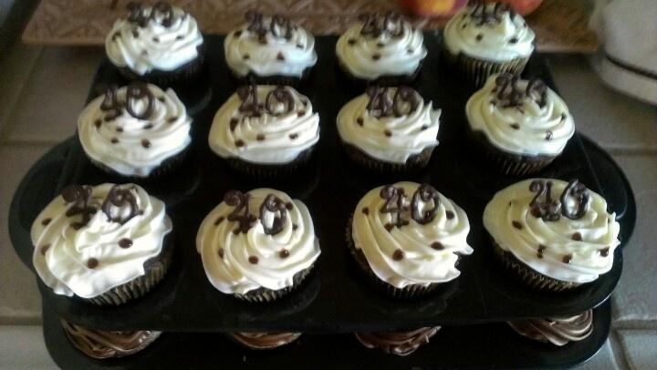 40th birthday cupcakes Cupcake Princess Pinterest