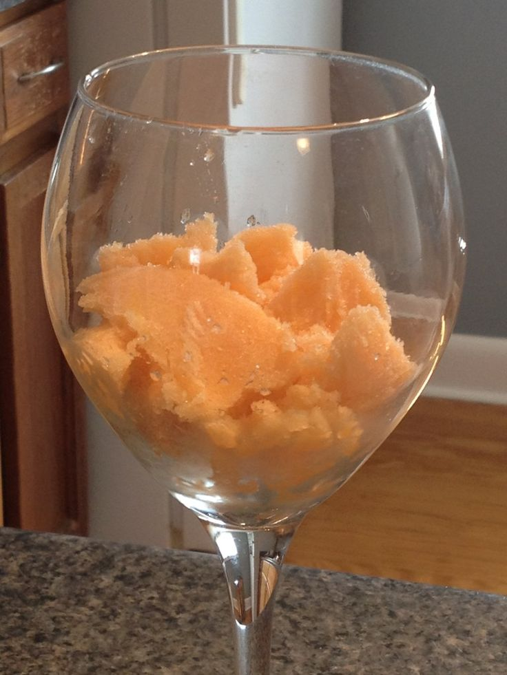 Cantaloupe Sorbet | Ice cream.....UMMMMM | Pinterest