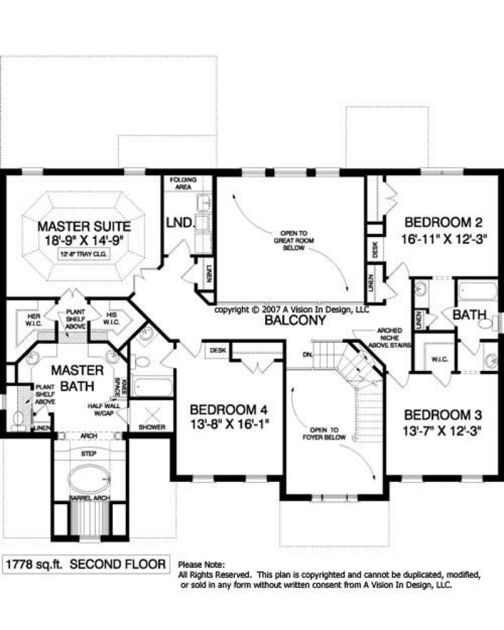 Top 28 upstairs floor plans house plan 2091 b for Upstairs house plans