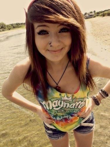 Cute emo girl.