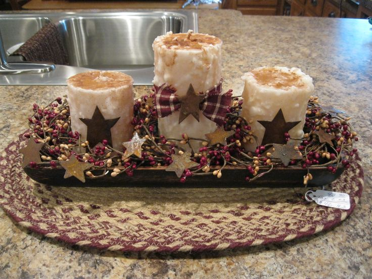 Centerpiece christmas centerpieces pinterest for Kitchen table centerpieces