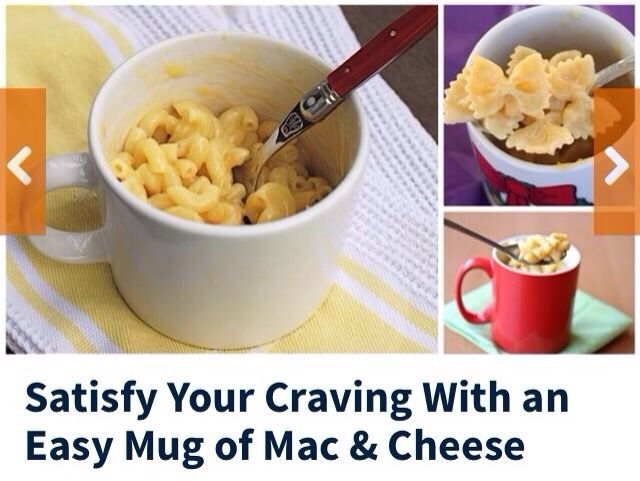 Satisfy Your Craving With An Easy Mug Of Mac & Cheese! #Food # ...